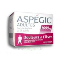ASPEGIC ADULTES 1000 mg, poudre pour solution buvable en sachet-dose 20 à AMBARÈS-ET-LAGRAVE