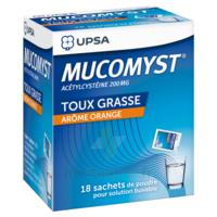 MUCOMYST 200 mg Poudre pour solution buvable en sachet B/18 à AMBARÈS-ET-LAGRAVE