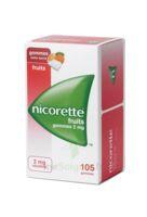 Nicorette 2 mg Gomme à mâcher médicamenteuse sans sucre fruits Plq/105 à AMBARÈS-ET-LAGRAVE