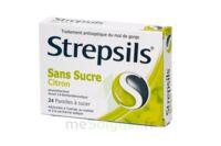 STREPSILS CITRON SANS SUCRE, pastille édulcorée à l'isomalt, au maltitol et à la saccharine sodique à AMBARÈS-ET-LAGRAVE