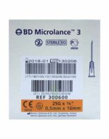 BD MICROLANCE 3, G25 5/8, 0,5 mm x 16 mm, orange  à AMBARÈS-ET-LAGRAVE