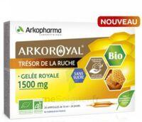Arkoroyal Gelée royale bio sans sucre 1500mg Solution buvable 20 Ampoules/10ml à AMBARÈS-ET-LAGRAVE