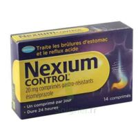 NEXIUM CONTROL 20 mg Cpr gastro-rés Plq/14 à AMBARÈS-ET-LAGRAVE