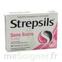 STREPSILS FRAISE SANS SUCRE, pastille édulcorée à l'isomalt, au maltitol et à la saccharine sodique à AMBARÈS-ET-LAGRAVE