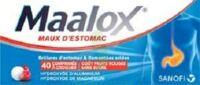 MAALOX MAUX D'ESTOMAC HYDROXYDE D'ALUMINIUM/HYDROXYDE DE MAGNESIUM 400 mg/400 mg SANS SUCRE FRUITS ROUGES, comprimé à croquer édulcoré à la saccharine sodique, au sorbitol et au maltitol à AMBARÈS-ET-LAGRAVE