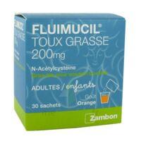 FLUIMUCIL EXPECTORANT ACETYLCYSTEINE 200 mg SANS SUCRE, granulés pour solution buvable en sachet édulcorés à l'aspartam et au sorbitol à AMBARÈS-ET-LAGRAVE