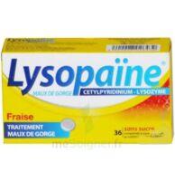 LYSOPAÏNE MAUX DE GORGE CETYLPYRIDINIUM LYSOZYME FRAISE SANS SUCRE, comprimé à sucer édulcoré au sorbitol et à la saccharine à AMBARÈS-ET-LAGRAVE