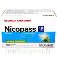 Nicopass 1,5 mg Pastille sans sucre menthe fraîcheur Plq/96 à AMBARÈS-ET-LAGRAVE