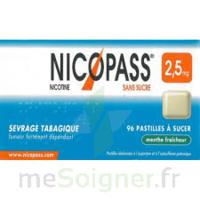 Nicopass 2,5 mg Pastille menthe fraîcheur sans sucre Plq/36 à AMBARÈS-ET-LAGRAVE