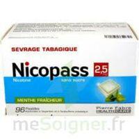 Nicopass 2,5 mg Pastille menthe fraîcheur sans sucre Plq/96 à AMBARÈS-ET-LAGRAVE