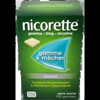 NICORETTE 2 mg Gom à mâcher médic sans sucre menthe fraîche Plq/105gom à AMBARÈS-ET-LAGRAVE