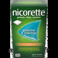Nicorette 2 mg Gomme à mâcher médicamenteuse sans sucre fruits Plq/30 à AMBARÈS-ET-LAGRAVE