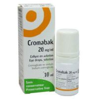 CROMABAK 20 mg/ml, collyre en solution à AMBARÈS-ET-LAGRAVE