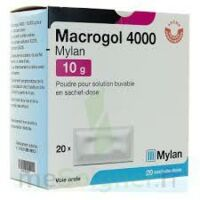 MACROGOL 4000 MYLAN 10 g, poudre pour solution buvable en sachet-dose à AMBARÈS-ET-LAGRAVE