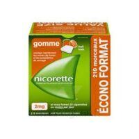 Nicorette 2 mg Gomme à mâcher médicamenteuse sans sucre fruits Plq/210 à AMBARÈS-ET-LAGRAVE