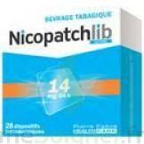 NICOPATCHLIB 14 mg/24 h Dispositifs transdermiques B/7 à AMBARÈS-ET-LAGRAVE