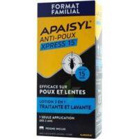 Apaisyl Anti-poux Xpress Lotion antipoux et lente 300ml à AMBARÈS-ET-LAGRAVE