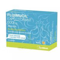 FLUIMUCIL EXPECTORANT ACETYLCYSTEINE 600 mg Glé s buv adultes 10Sach à AMBARÈS-ET-LAGRAVE
